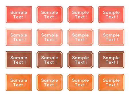Watercolor, frame frame, header frame, orange