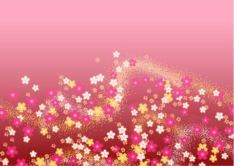 シックな和風柄 背景素材(ピンク)