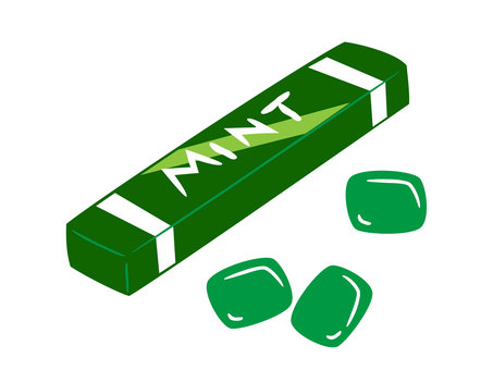 Mint flavored gum