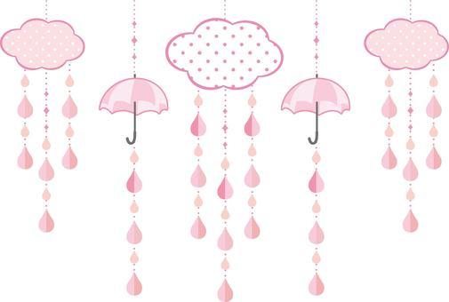 Rain garland pink