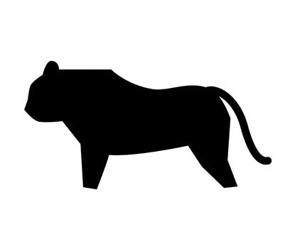 Tiger silhouette