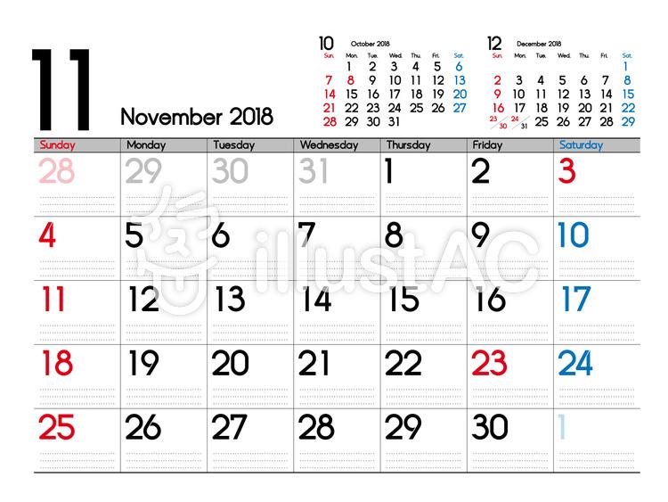 11月カレンダーイラスト No 910857無料イラストならイラストac