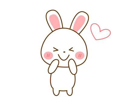 A rabbit rejoicing