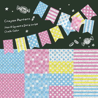 6 sets of crayon patterns