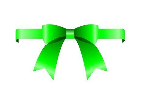Wrapping ribbon (green)