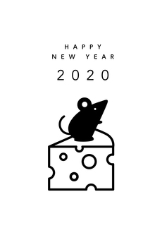 New Year rat and cheese 2020