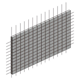 Block fence (with reinforcing bars)