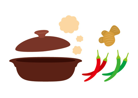 Get cooked in a pot