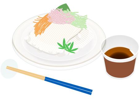 與somen,麵條和筷子的夏天食物