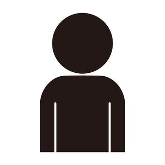 Person pictogram upper body black