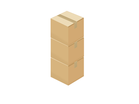 Stacked cardboard
