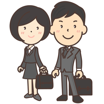 Office worker couple working together