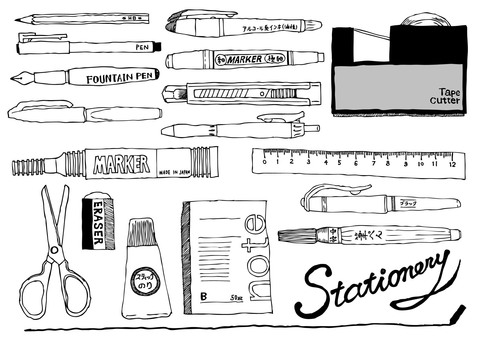 Stationery Hand-painted illustration