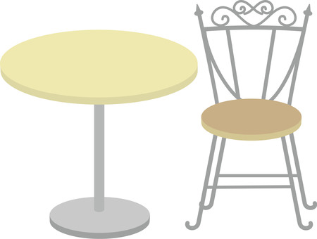 Cafe table set