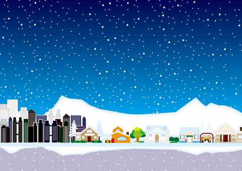 Snowy town 7