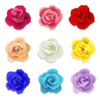 薔薇のパーツ