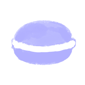 Macaron blue