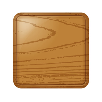 Wood grid rectangular solid icon button