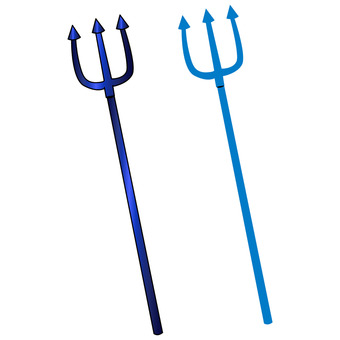Devil's spear Halloween material Blue