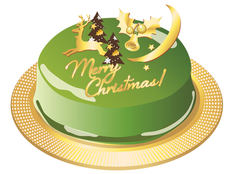 Christmas cake adult green