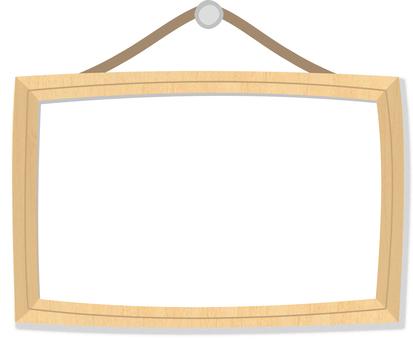 Frame of wood