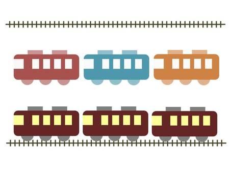 Frame Illustration Frame Material Hankyu Train