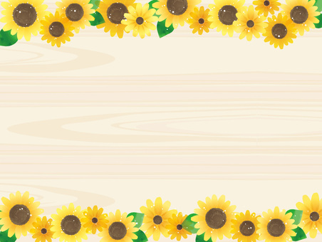 Illustration 05 of sunflower (wood grain)