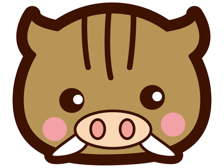 Cute wild boar's face