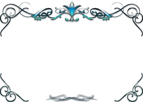 Blue luxury decorative frame