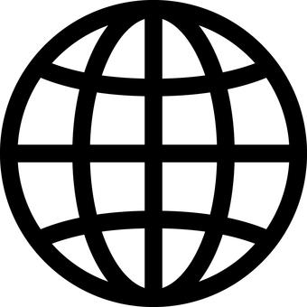 Earth _ Icon _ Black