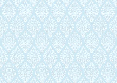 青色のダマスク柄のシンプルパターン背景