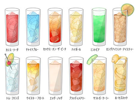 Cocktail Set - Long Glass