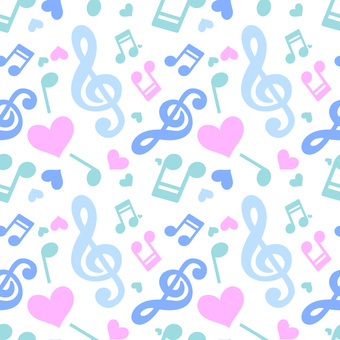 Musical Note Blue