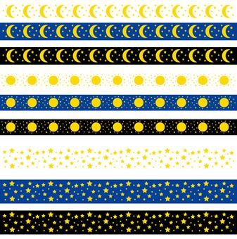 Ruled Line - Star Moon Night