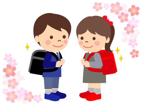 School bags and children