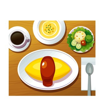 Omurice set