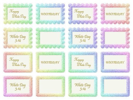 White day message rainbow color card