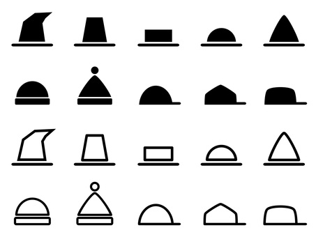 Various hat icon set