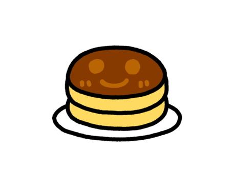 Pan-cake deep-fried