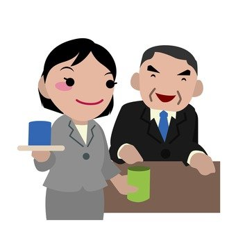 A subordinate who gives a tea to his boss