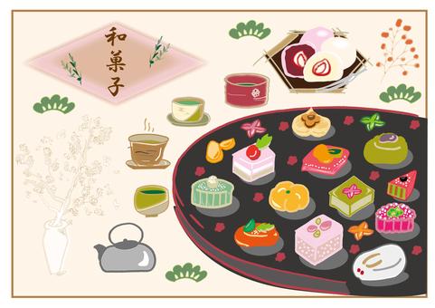 Japanese confectionery set