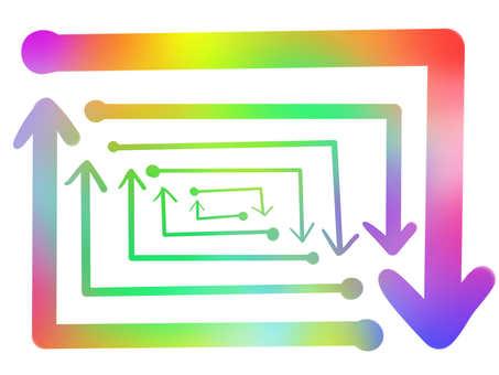 Shacho Maguro Rainbow Rainbow Nanairo Colorful Rough