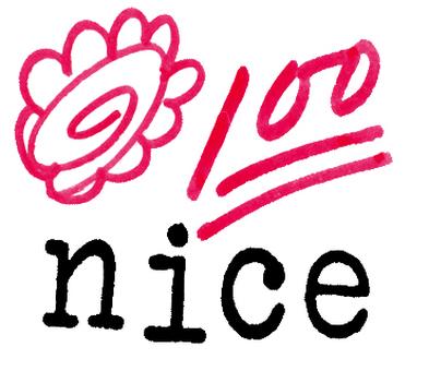 꽃 마루 마크와 100 점 만점 마크