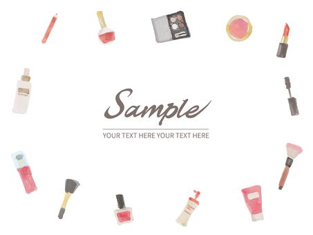 Watercolor cosmetics simple background