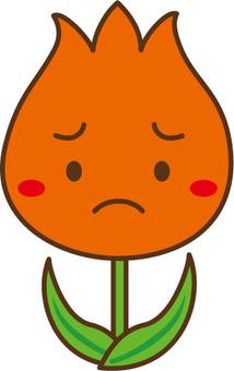 Unhappy tulip red