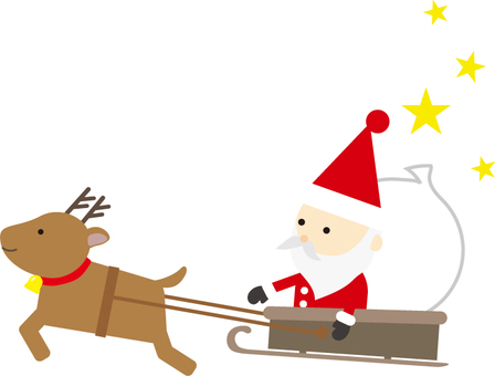 Santa sled background No