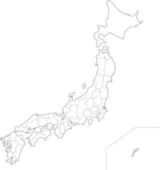 Japan map (white map)