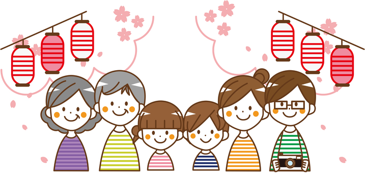 Family 6 people Ohanami _No.10