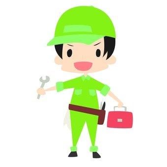 Worker Male _ Green