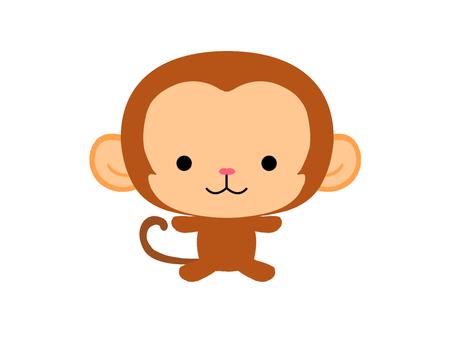 Child monkey illustration